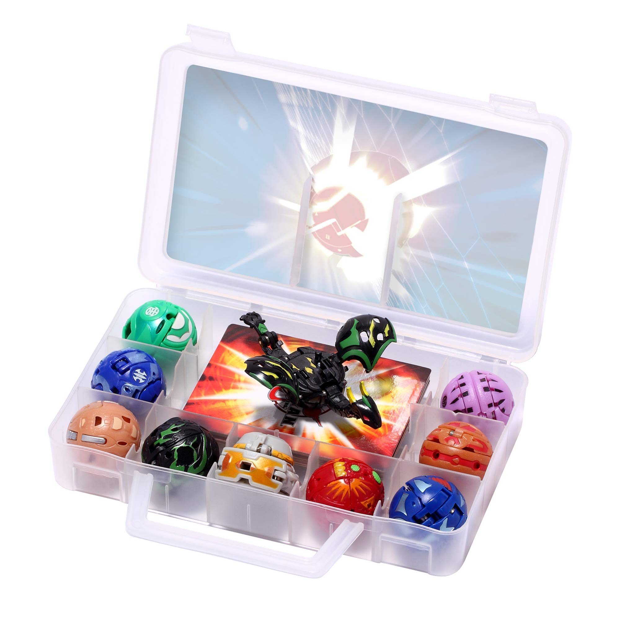 Battle Brawlers Bakugan Pack, 9 Bakugan All Different + 9 Metal Gate Card with Baku-Storage Case Great Toy Gift and Collection, for Ages 6 and Up (9-Pack)