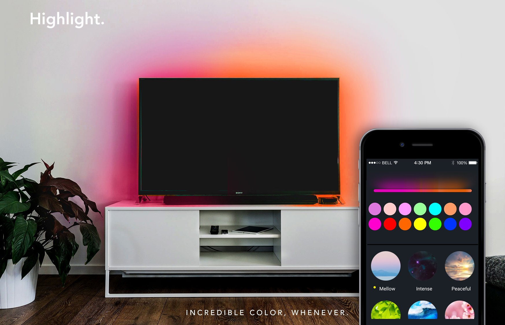 LIFX Z (Starter Kit) Wi-Fi Smart LED Light Strip (Base + 2 meters of strip), Adjustable, Multicolor, Dimmable, No Hub Required, Works with Alexa and Google Assistant by LIFX (Image #5)