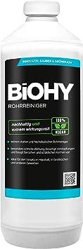 Biohy Rohrreiniger 1l Flasche Extra Stark Flussiger Hochkonzentrierter Abflussreiniger Geruchsneutral Fur Alle Verstopfungen Amazon De Drogerie Korperpflege