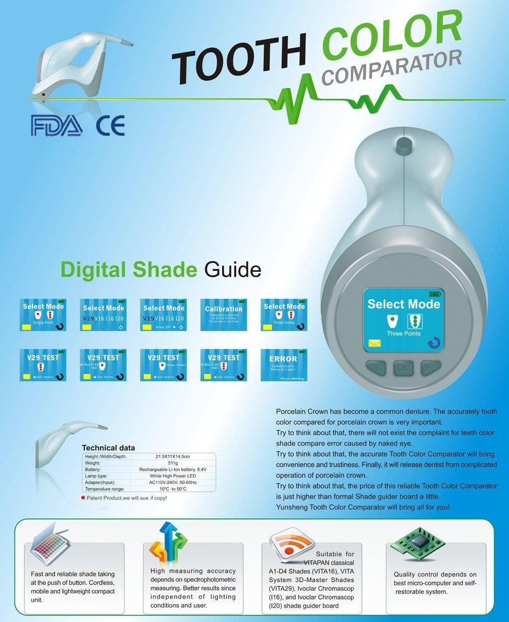 Ruensheng® Dental Digital Shade Guide Ys-tcc-a Tooth Color Comparator for Dentist By King Dental