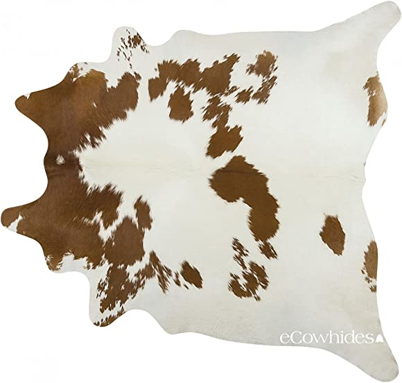 eCowhides Brown and White Brazilian Cowhide Area Rug