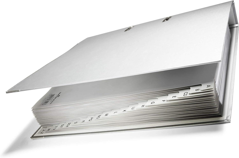 Durable 651010 Registros A-Z gris A4, leng/üetas en relieve, 20 piezas, hecho de PP, totalmente opaco 20 piezas