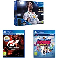 Sony PlayStation 4 (500GB) with FIFA 18  + Gran Turismo Sport  + Knowledge is Power