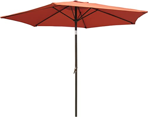 International Caravan YF-1104-2.5M TC-IC Furniture Piece Outdoor 8 Foot Aluminum Umbrella