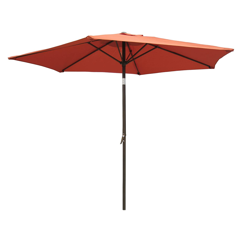 International Caravan YF-1104-2.5M TC-IC Furniture Piece Outdoor 8 Foot Aluminum Umbrella