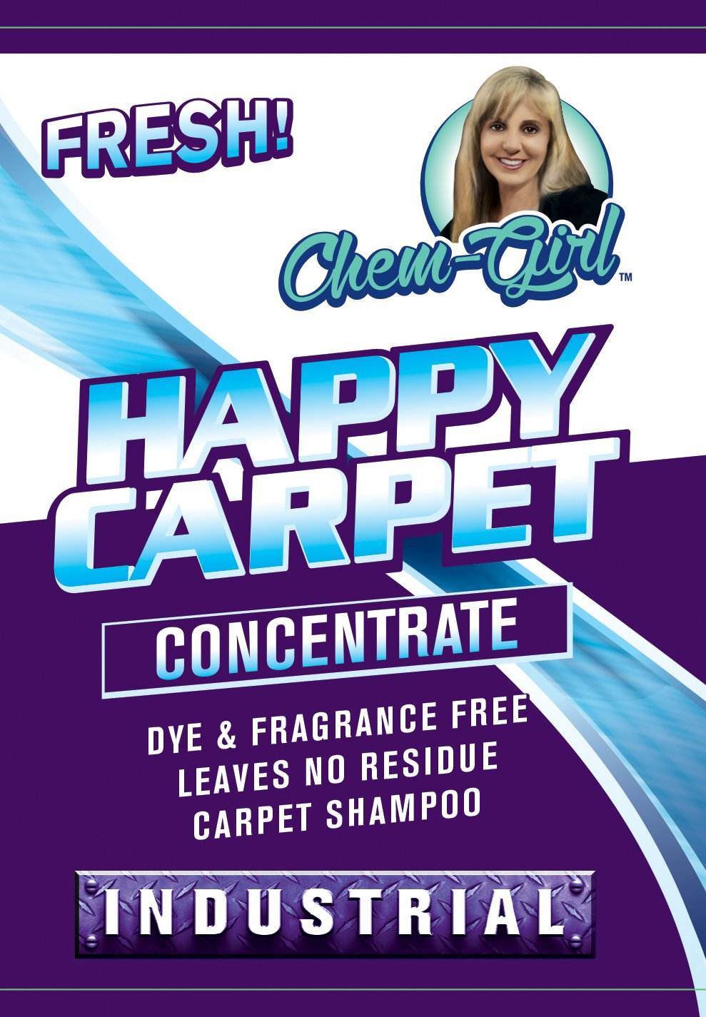 Chem-Girl | Happy Carpet Concentrate | Premium Carpet Shampoo | Removes Stains & Odors from Rugs, Mats & Upholstery | Deep Penetrating Pet Spot Cleaner | Bissell & Hoover Steam Compatible | 1 Gallon