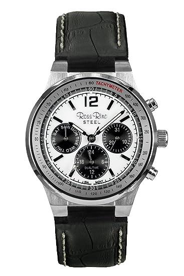Reloj digital de cuarzo reloj de Pulsera Unisex superimpregnación Rino con esfera blanca y marrón de la pulsera de cuero: Amazon.es: Relojes
