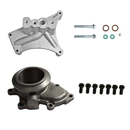 yjracing Turbo Pedestal Exhaust Housing Up Pipes & Gaskets Fit For 99.5-03 Ford 7.3