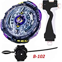 Urcara Bey Burst Gyro Battling Top B-102 Beyblade Burst Twin Nemesis.3H.Ui Attack Booster Top Pack Spinning with Launcher +B-40 Launcher Grip Set (Black)