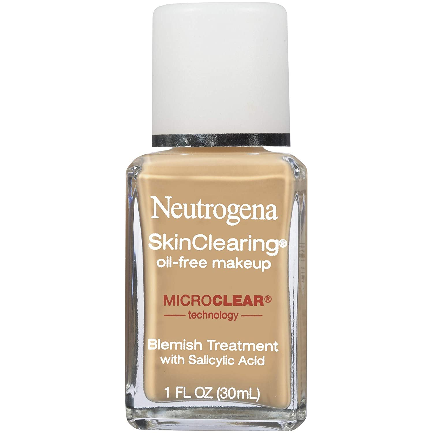 Neutrogena Skinclearing Makeup, 60 Natural Beige, 1 Fl. Oz.