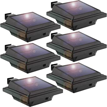 LED Dachrinnen Leuchte Licht Solarlampe Solarlicht Beleuchtung 2er Set Schwarz
