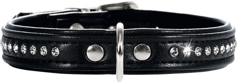 HUNTER Collar Arte Moderno 27/11 níquel Cuero de imitación Negro/Cuero de imitación Negro