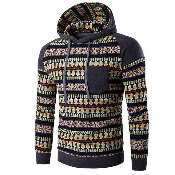 Yvelands Suéter de Camuflaje para Hombre, Sudadera con Capucha de Hombre Suéter de Felpa con Forro Polar de Ecosmart: Amazon.es: Ropa y accesorios