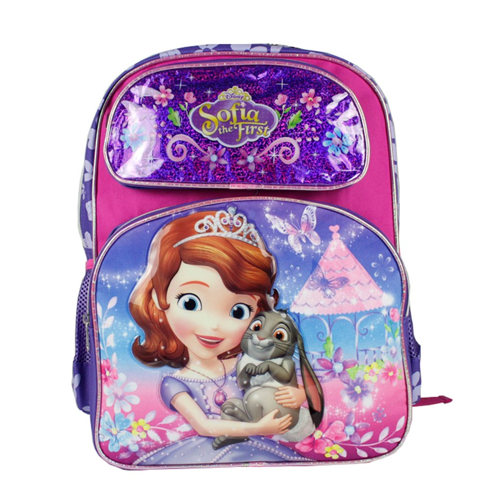 Disney Sofia the First Backpack Bag Girls 16 Large School Backpack Bag