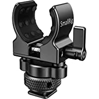 SMALLRIG Microphone Holder, Shotgun Microphones Clip with Cold Shoe Adapter - BSM2352