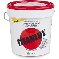 Titanlux - Pintura plástica Cobertura total, Blanco, 4L