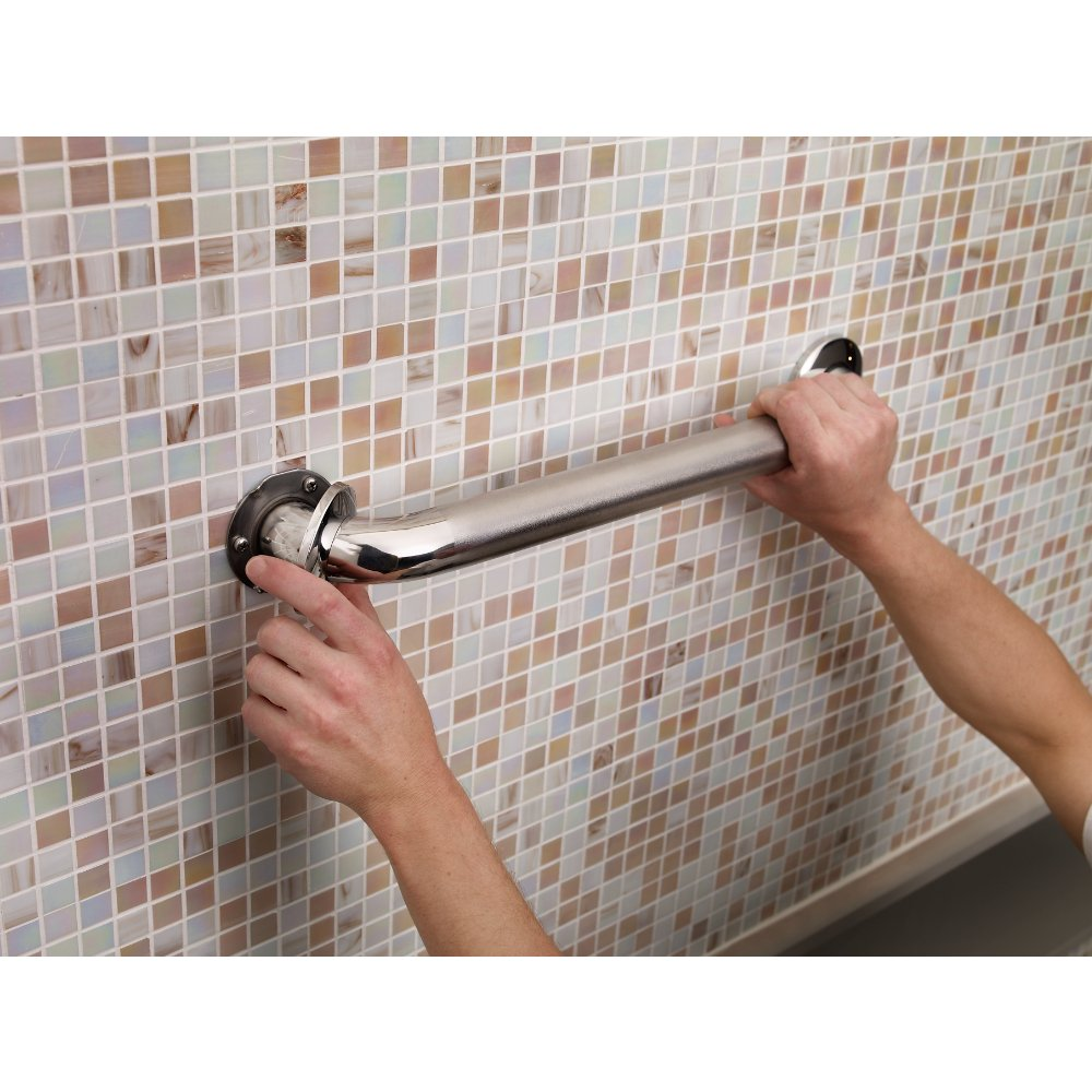 Amazon.com: Delta DF5616-PBS Concealed Screw Bathroom Safety Grab ...