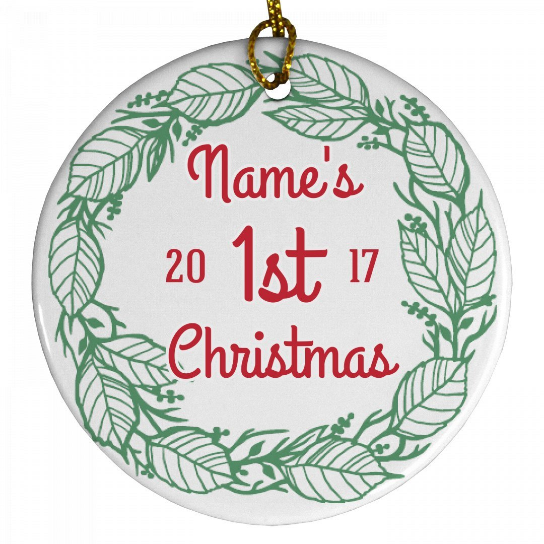Holiday Baby's First Christmas: Porcelain Circle Ornament Johnson Plastics 3799352No Size_White