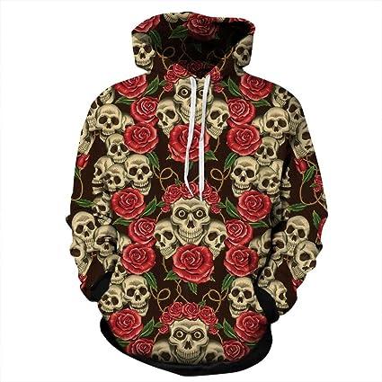 Nueva moda otoño invierno de hombre/mujer sudaderas con capucha Flores rosas de impresión 3D