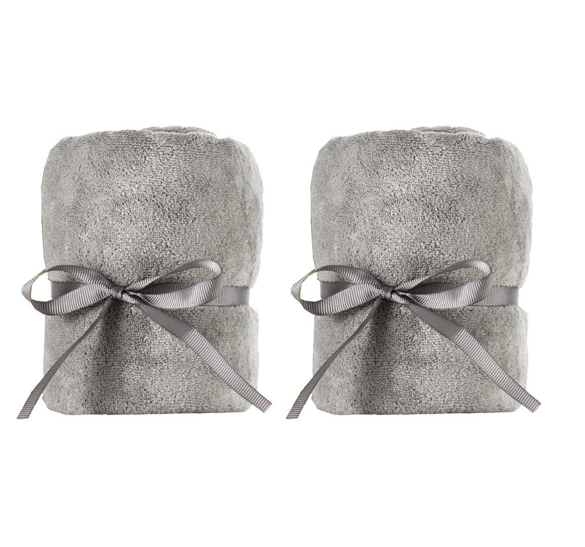 DevaCurl Towel; Microfiber Anti-Frizz Hair Towel; Gray; 2-Pack by DevaCurl (Image #1)