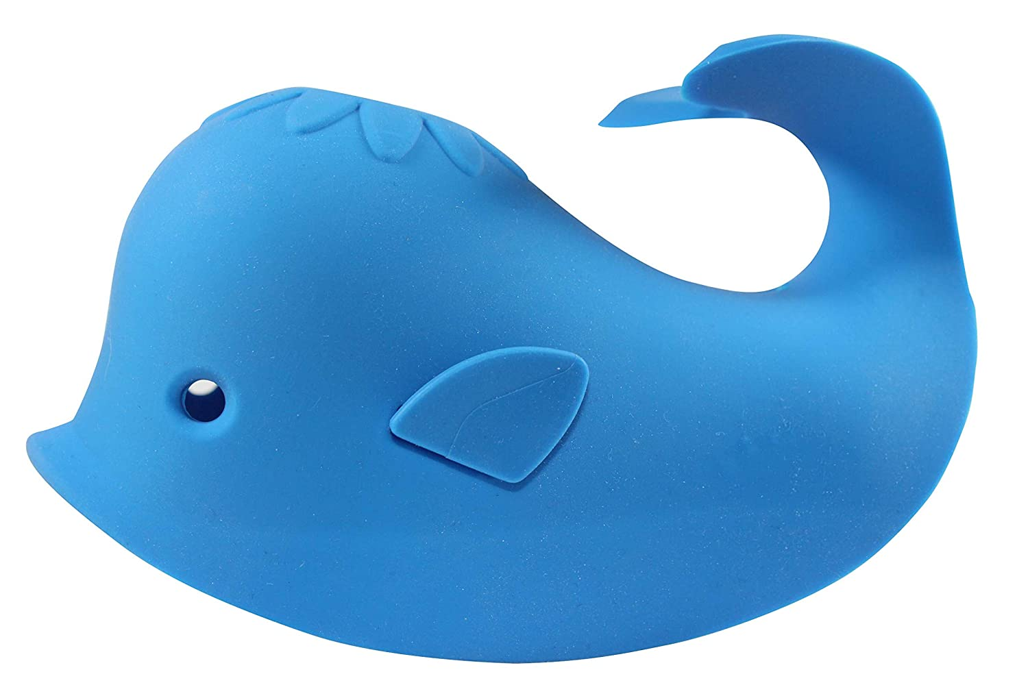Bathtub Spout Cover for Kids - Bath Faucet Tub Covers Protects Baby During Bath Time While Being Fun. Cute Soft Whale Making for Enjoyable Safe Baths Your Child Will Love. (1 Pack, Blue)