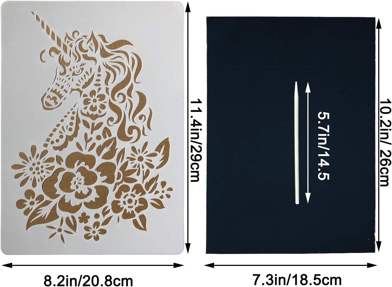 Lavable Plastique Robuste Stencils X6 Fée Thème 15 x 14 cm Enfants Art Craft