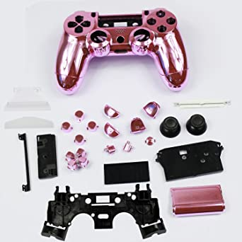 40b20ddc Gotor Full Housing Plating Shell Case Button Kit Replacement Parts for  PlayStation4 PlayStation 4 PS4 Wireless Controller Color Pink: Amazon.ca:  Computer ...