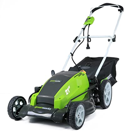 Stand Behind Lawn Mower >> Greenworks 21 Inch 13 Amp Corded Electric Lawn Mower 25112