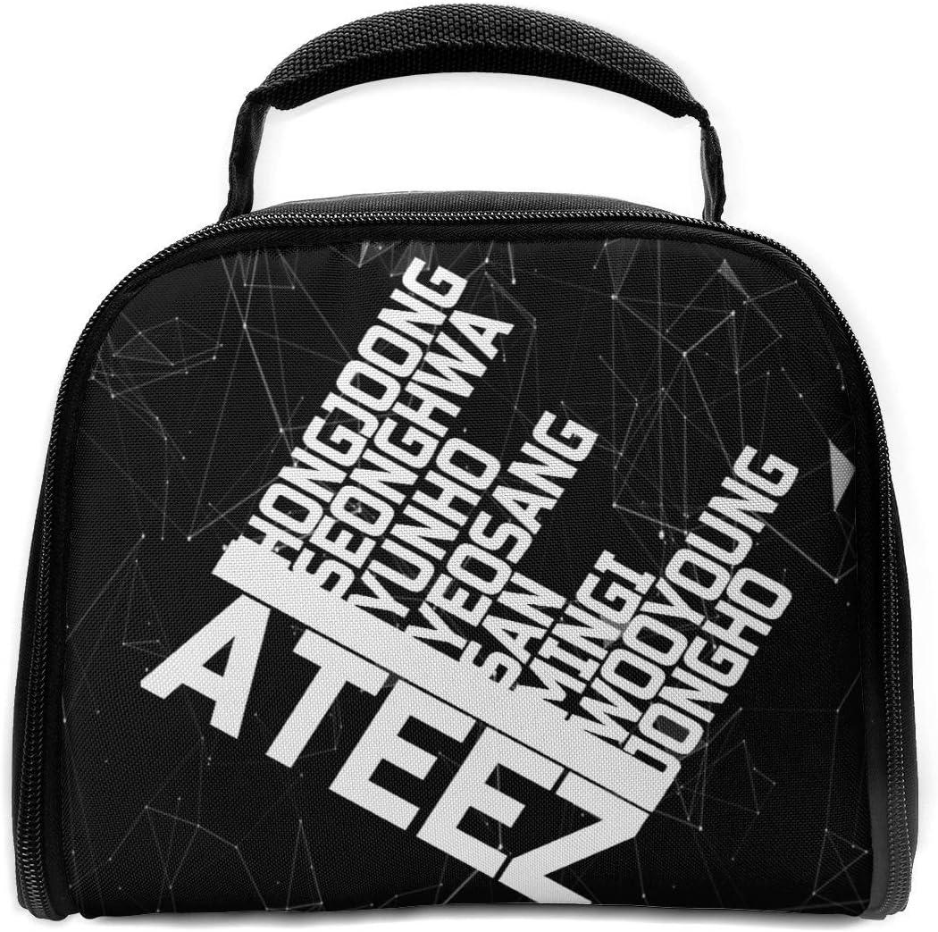 Amazon Com Yemaijai Unisex Warm Ateez Logo School Insulated Lunch Bag Handbag Lunchbox For Teens Kids