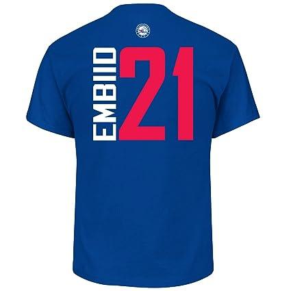 best service 22b49 74914 Joel Embiid Philadelphia 76ers #21 NBA Men's Vertical Player T-Shirt