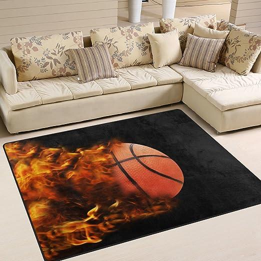Domoko - Alfombra de Baloncesto para Sala de Estar ...