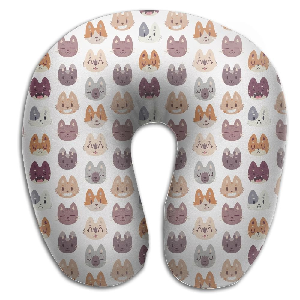 Nicokee Multifunctional Neck Pillow Animal Head Pattern U-Shaped Soft Pillows Portable for Sleeping Travel
