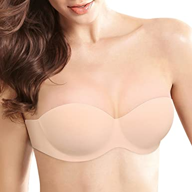 ba6cdba7afa Strapless Backless Sticky bra for Women Push up Self-Adhesive Bras for DD  Cup (