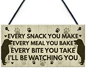 Funny Dog Signs and Plaques Birthday Gift for Dog Lovers Novelty Dog Sign for Home Animal Pet Sign 10