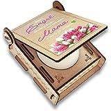 CANDLE in the BOX Geschenk-Box mit Botschaft & Kerze | Geschenk für Mama zum Geburtstag | Engel ohne Flügel nennt man Mama | Handmade
