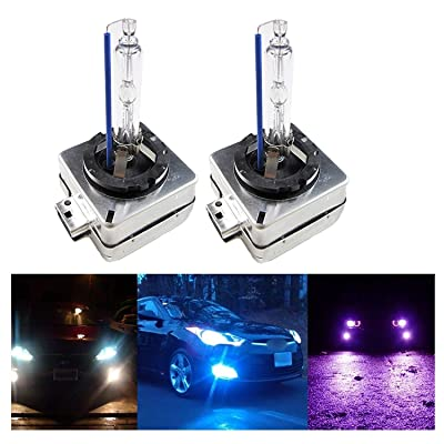 Xotic Tech D1S D1R D1C 8000K Ice Blue OEM HID Headlight Replacement Light Bulb: Automotive