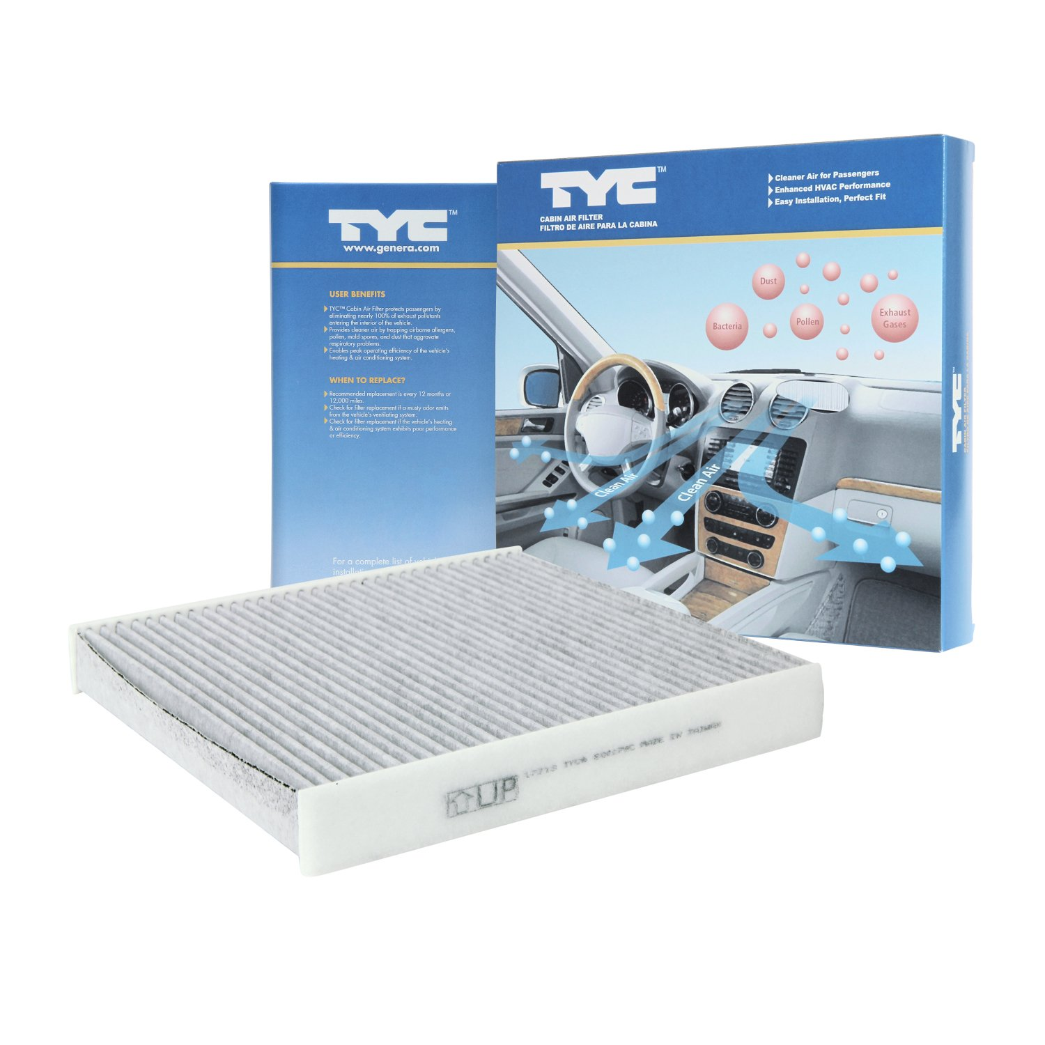 TYC 800179C Replacement Cabin Air Filter for Lexus