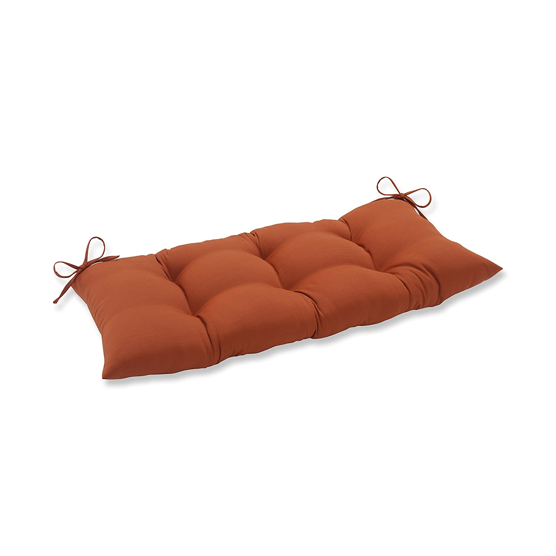 Pillow Perfect Indoor/Outdoor Cinnabar Burnt Orange Swing/Bench Cushion