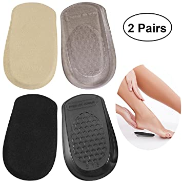 b821a47a970fb Amazon.com: ROSENICE 2 Pairs of Heel Cups Gel Shoe Lift Height ...