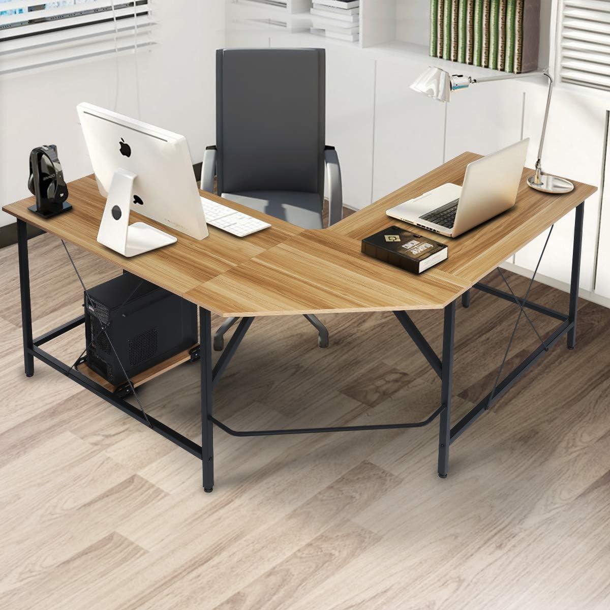 KingSo L Shaped Computer Desk 59