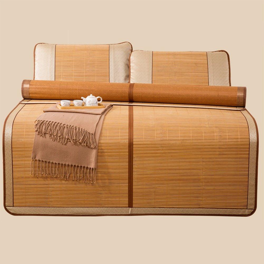 WENZHE Matratzen Sommer Schlafmatten Matratze Bambus Faltbar Glatt Schlafzimmer Doppelseitig Verwendbar Schlafsaal Bett 2 Kissenbezüge, 6 Größen Verfügbar, 2 Arten Strohmatte Teppiche