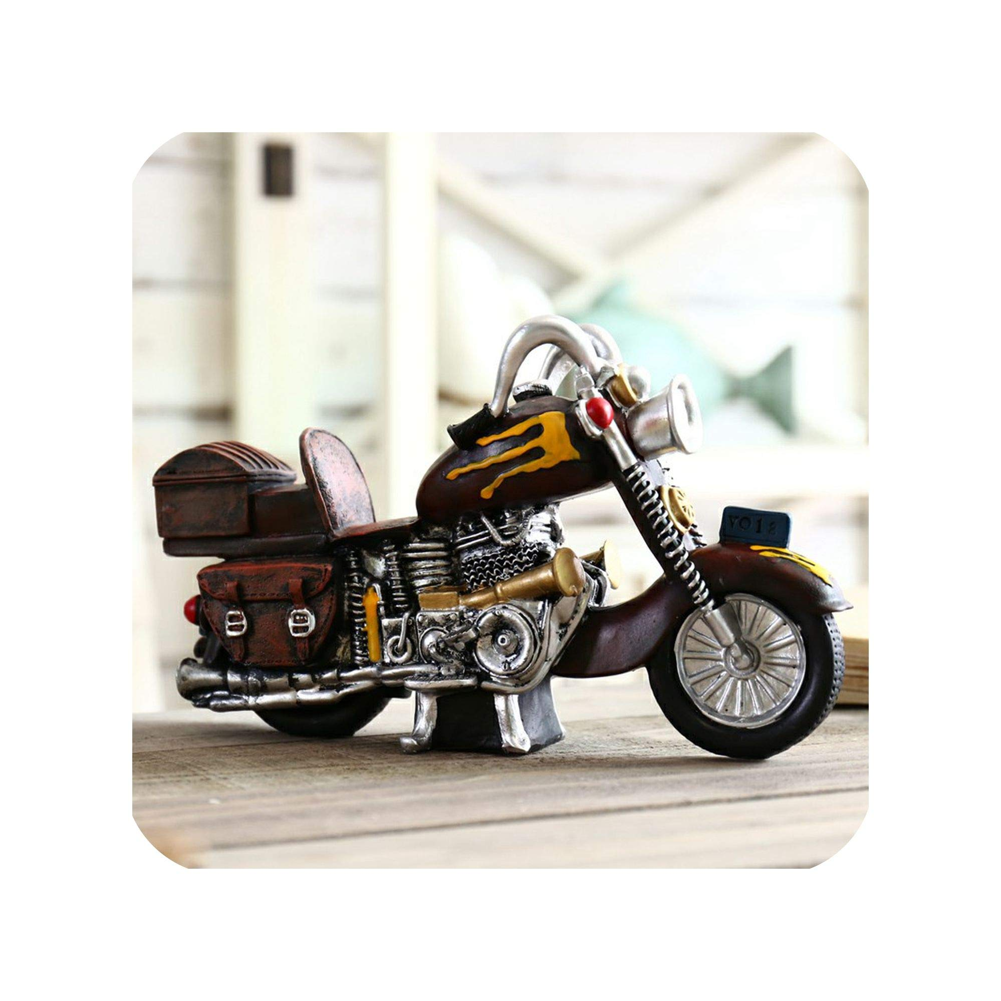 Fun Thing New Year Gift Motorcycle Figurine Piggy Bank Money Box Metal Coin Box Saving Box Home Decoration Crafts Gift for Kid,Motor Money Box Y by NA