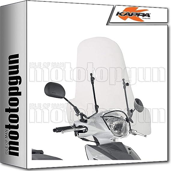 Kappa Windschild Kompatibel Mit Piaggio Liberty 50 125 150 2009 09 2010 10 2011 11 2012 12 Auto