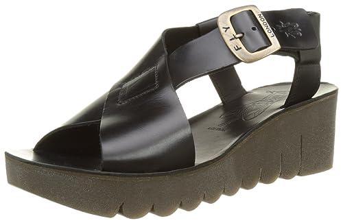 a16b1ca5bd0e Fly London Women s YILD880FLY Wedge Sandals  Amazon.co.uk  Shoes   Bags