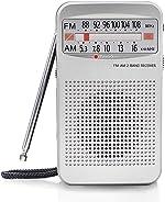 AM FM Portable Pocket Radio, Compact Transistor Radios - Best Reception,