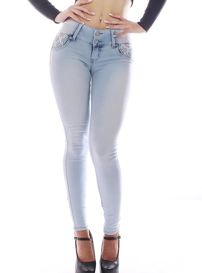 1 opinioni per FARINA®1660 Pantaloni jeans donne , push up / Derriere, pantaloni elastici