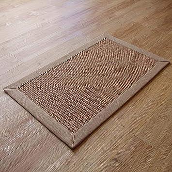 Amazon De Gaoli Fussmatte Mit Moderner Verdickung Sisal Teppich