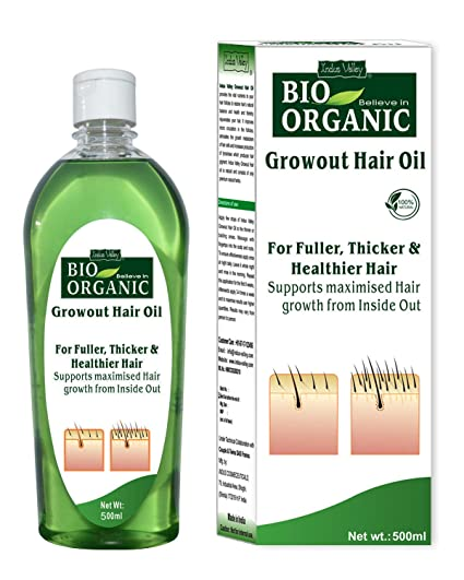 b5bc73ac26 Buy Indus Valley Bio Organic Natural Hair Oil-500ML Online at Low Prices in  India - Amazon.in