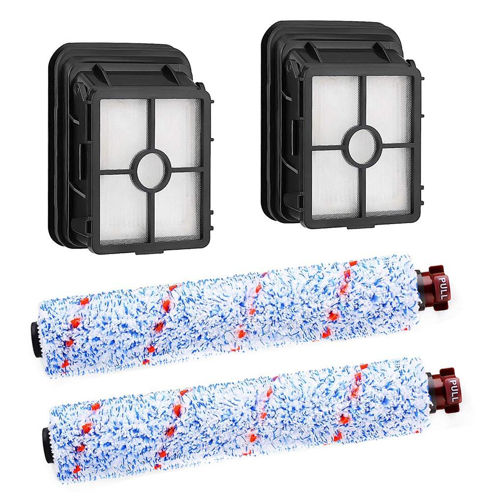 Filtri lavabili Parte di ricambio di spazzole multisuperficie per aspirapolvere CrossWave Bissell 1866F Confezione da 4 pezzi
