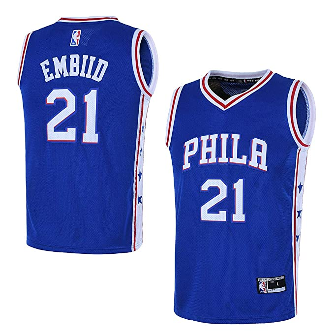 brand new db8fd 41af8 Outerstuff Youth 8-20 Philadelphia 76ers #21 Joel Embiid Jersey